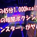 驚異の45分1000kcal燃焼!噂の暗闇ボクシング『bモンスター』がヤバい!